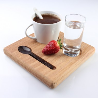 Wooden Plate Coffee Breaks 18cm