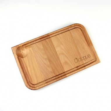 Wood Steak Service Plates 31x19 cm