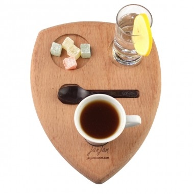 Wooden Coffee Tray 24x18cm Beech
