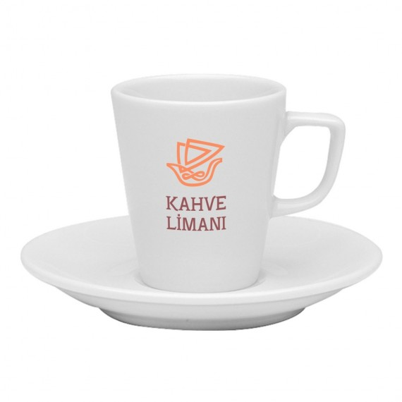Logo Printed Espresso / Turkish Coffee Cups and Saucers