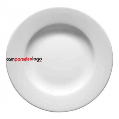 Logo Printed Porcelan Dinner Plate