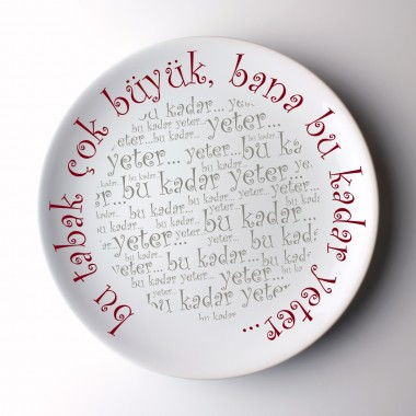 Pattern Printed 23cm Porcelain Plate