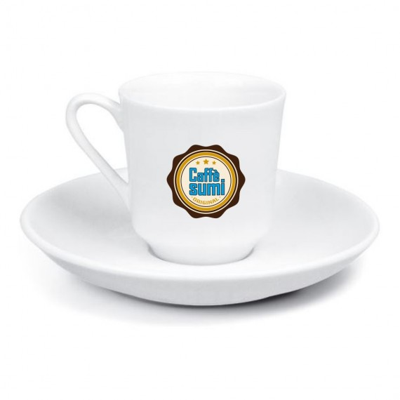 Logo Printed Gozde Stackable Porcelain Turkish Coffee Set
