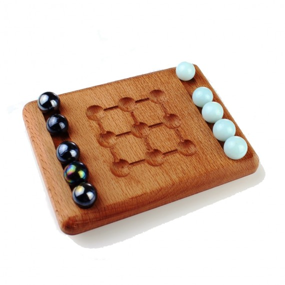 Wooden Game Five Stone 15x11cm Beech