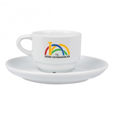Logo Printed Enternasyonel Porcelain Turkish Coffee Set