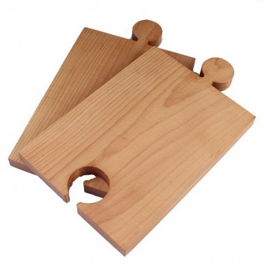 Wood Puzzle Cutting 2x 31x19cm Beech