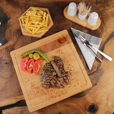 Wooden Square Steak Board 30x30cm Beech