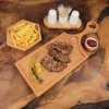 Wooden Handle Steak Board 45x17cm Beech