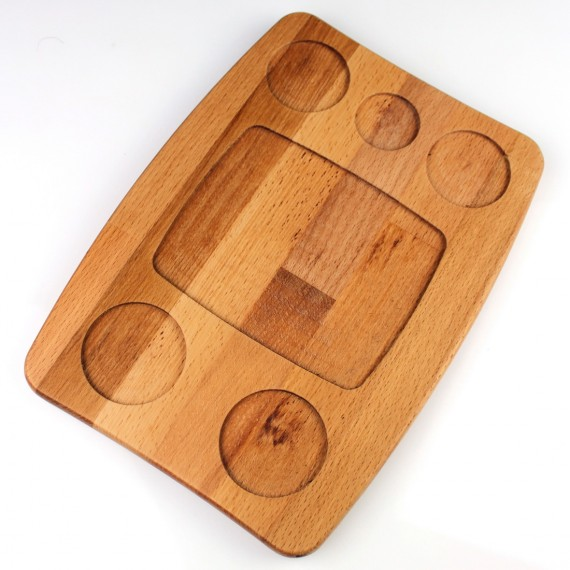 Wooden Napkin Sectioned Managment 23x22cm Beech