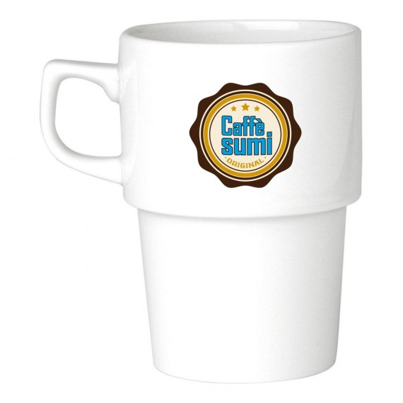 Logo Printed Stacking Porcelain Mug