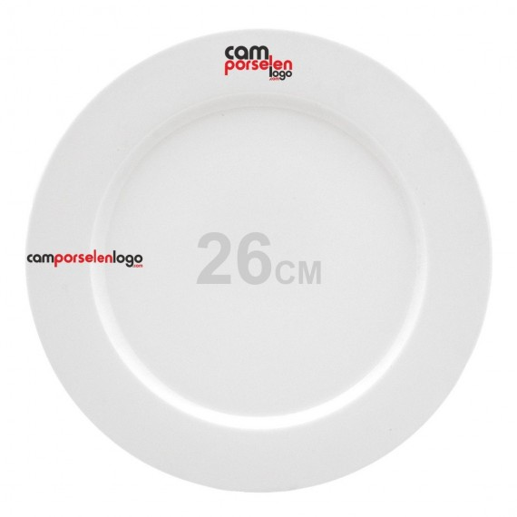 26cm Logo Printed Soley Porcelain Service Plate