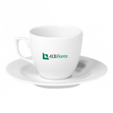Logo Printed Porcelain Turkish Coffee Set