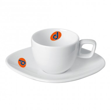 Logo Printed Porcelain Plate Coffee Cup Set