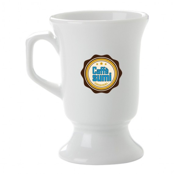 Logo Printed porcelain chocolate cup