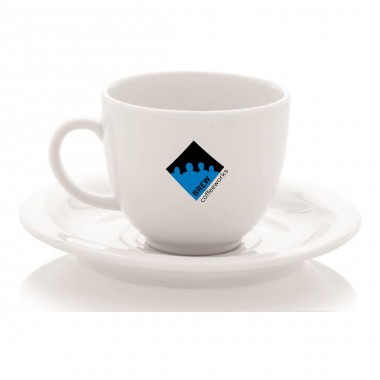 Logo Printed porcelain cup of Turkish Coffee Set