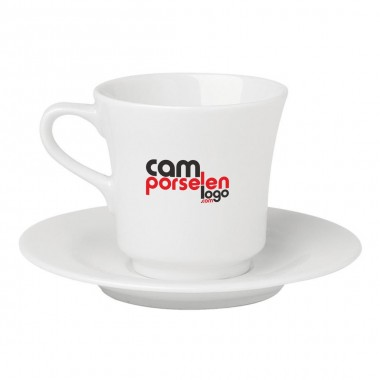 Logo Printed Porcelain Tea / Nescafe Cup Set