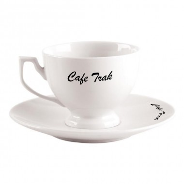 Logo Printed Porcelain Coffee Cup Set