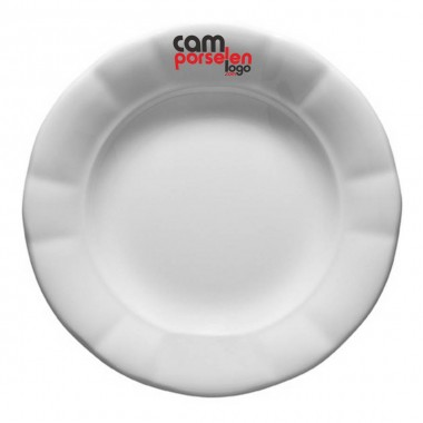 Logo Printed Porcelain Dinner Plate
