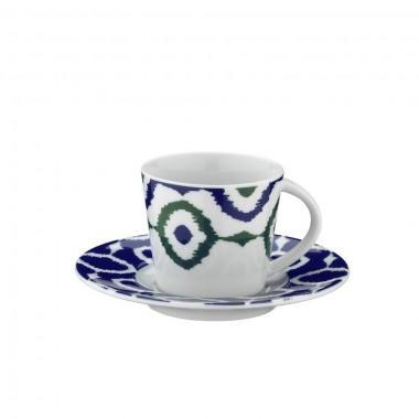 Porcelain Turkish Coffee Cup and Saucer