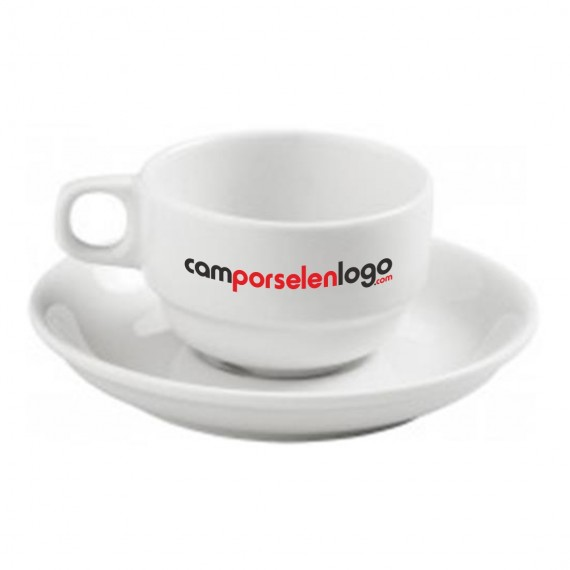 Logo Printed Turkish Coffee Cups and Saucers